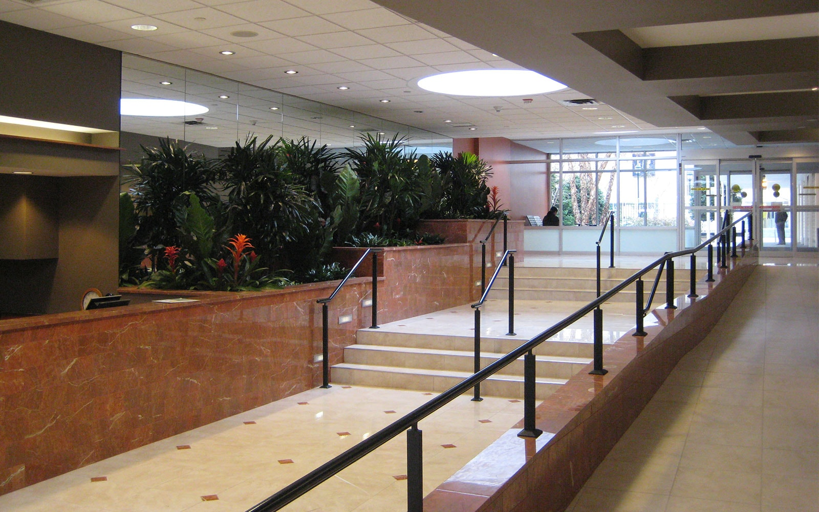 Stenton Institutional Painting - Clemens William Penn Lobby Entry with Greenery