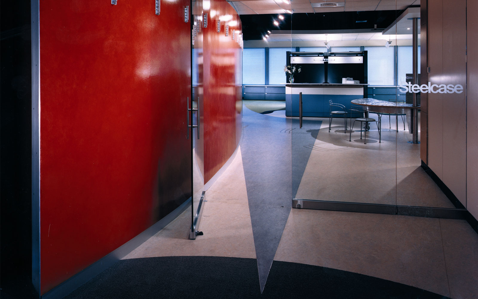 Stenton Light Industrial Painting - Steelcase Entrance